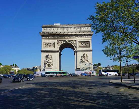 Arc de Triomphe seen from the road in front