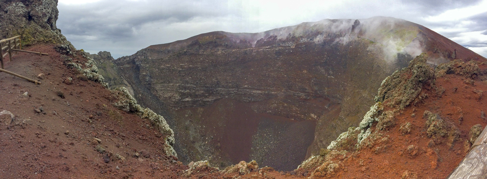 View of the crater.
