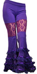 purple bellydance pants