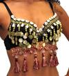 tribal bellydance bra top