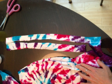 Cut T-shirt Wrap Ties
