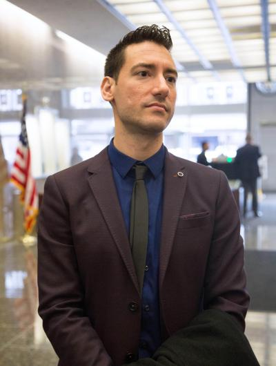 San Francisco, California, USA. 18th Dec, 2015. David Daleiden, lead investigator with the Center for Medical Progress, appeared in federal court Dec. 18, 2015 as a judge decides whether to maintain a temporary restraining order preventing Daleiden and his team from releasing videos they surreptitiously recorded at National Abortion Federation conferences in the last two years as part of Daleiden's ''Human Capital Project. © ZUMA Press, Inc./Alamy Live News