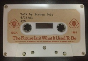 Talk by Steven Jobs Cassette