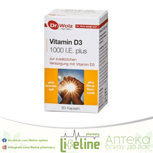 DR.WOLZ VITAMIN D3 1000IE cps.x 60
