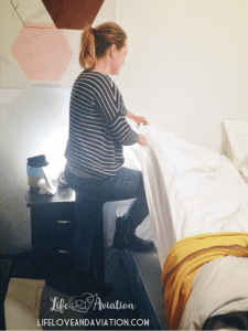 making bed with bad back