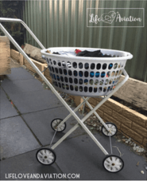 washing trolley with basket can make life easier if you have back pain