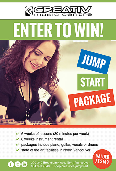 Creativ Music Centre Enter to win a JumpStart Package