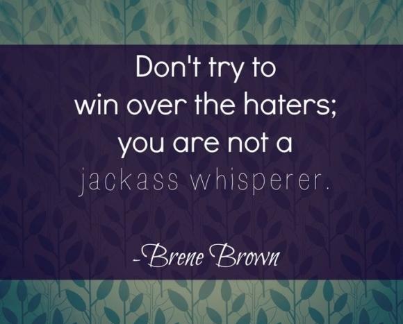 Jackass Whisperer Quote - Brene Brown