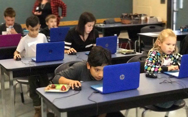 girls can code - one girl in a room of boys
