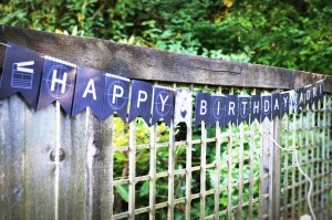 Movie Themed Happy Birthday Banner from Minted