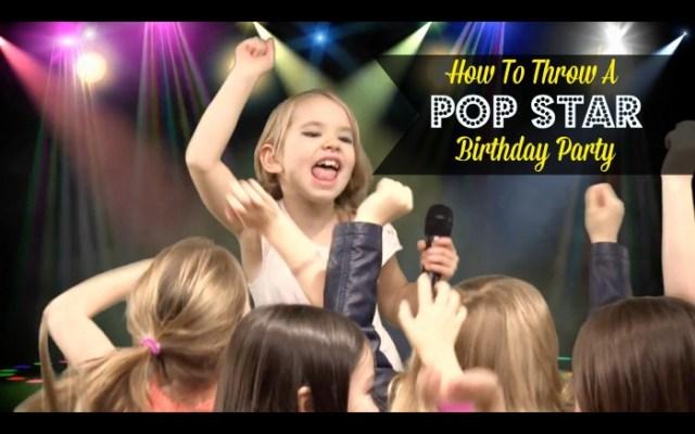 Pop Star Themed Birthday Party