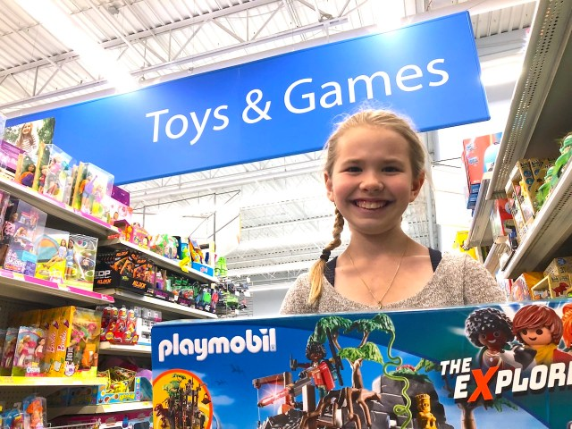 shopping for playmobil in walmart