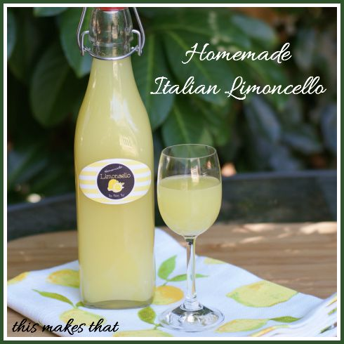 Homemade italian limoncello