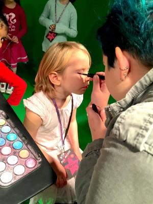 make up artist - pop star themed birthday party
