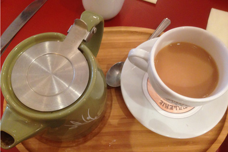 A cup of tea can make you happy