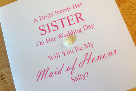 Honoured to be Maid of Honour