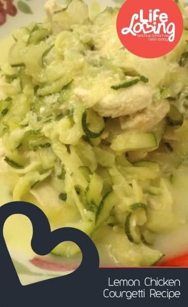 Lemon Chicken Courgetti Recipe