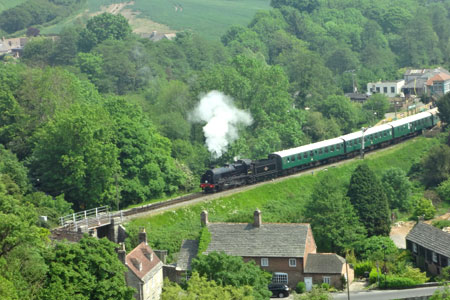 Steam Trains at Corfe Station - Corfe Castle