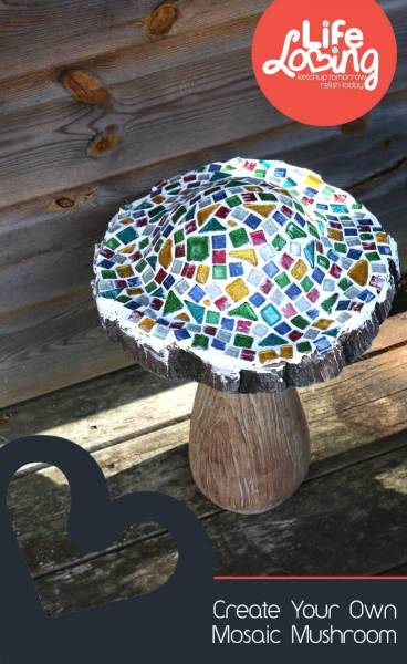 Create your own mosaic mushroom with Life Loving