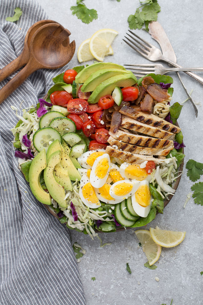 Low-Carb Chicken Cobb Salad
