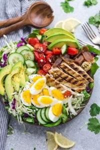Low Carb Chicken Cobb Salad