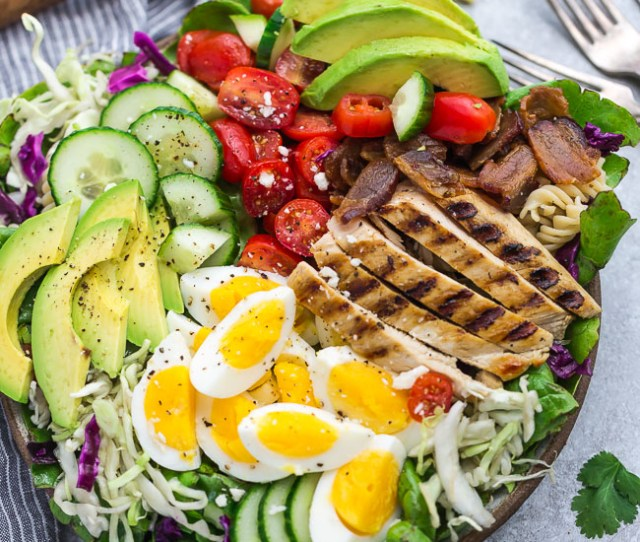 How To Make Low Carb Chicken Cobb Salad