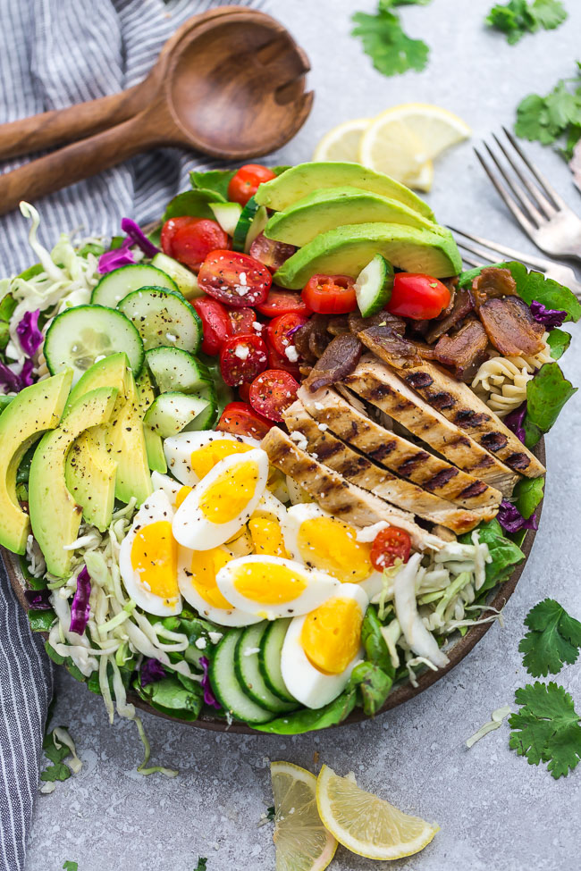 Low Carb Chicken Cobb Salad - Life Made Keto
