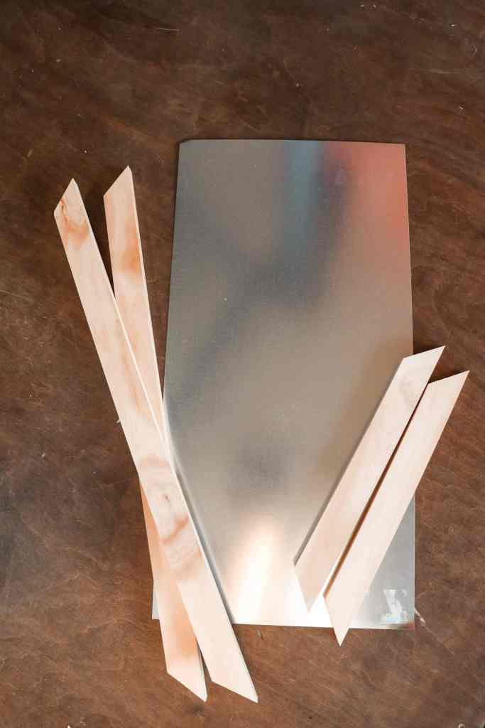 45 degree angle cuts for the magnetic message board