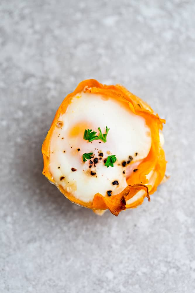 Sweet Potato Baked Egg Cups - 9 Ways are the perfect low carb and protein packed breakfast. Best of all, they are super simple to customize and come together in less than 30 minutes!