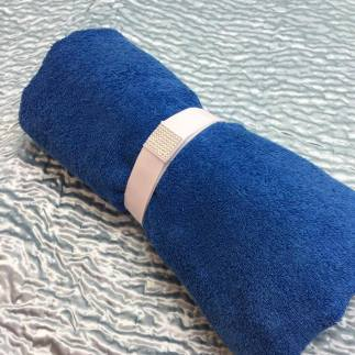 Towel Tidy Strap keeps your towel in a nice roll