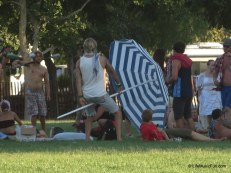 I didn't even realize I caught him humping his giant umbrella...