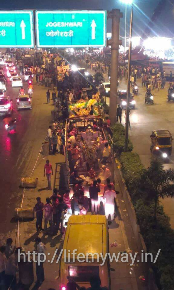 People celebrating on Mumbai roads