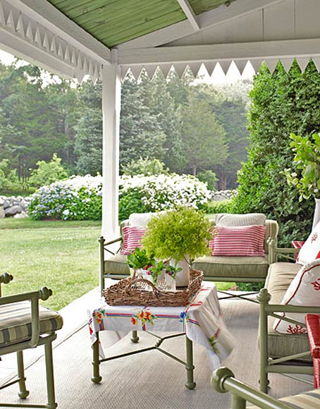 Терраса с видом на сад интерьер декор