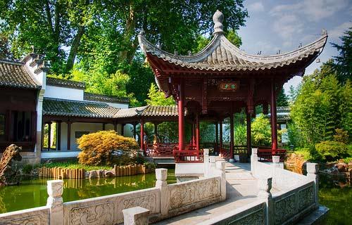 китайский сад во Франкфурте на Майне