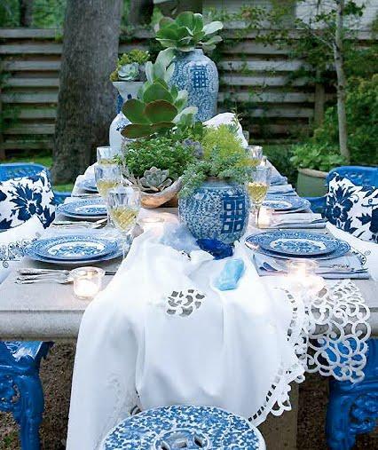 декорирование стола живыми растениями