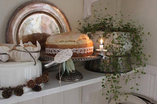 новогодний декор растение хлеб своими руками
