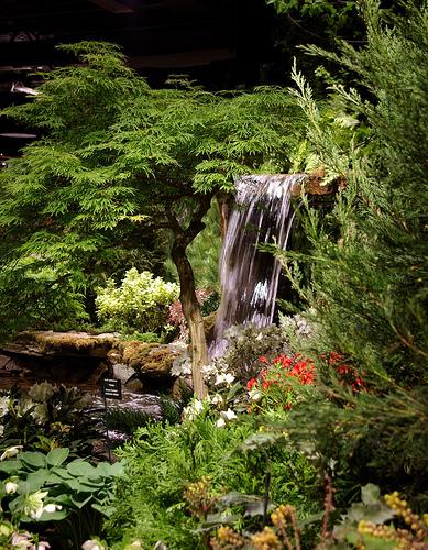 идеи для ландшафтного дизайна выставка в бостоне искусственный ручей