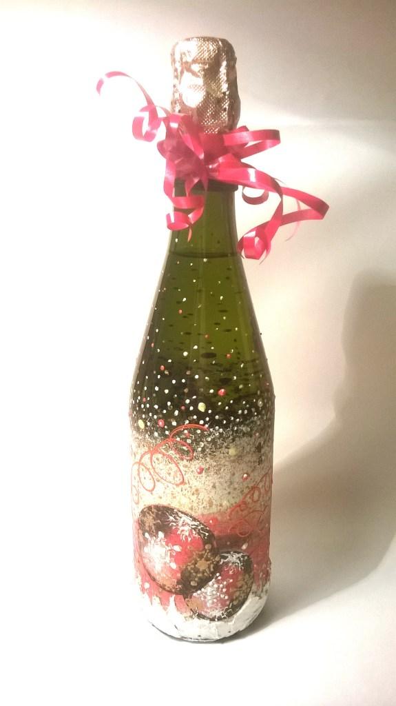 Новогодняя роспись бутылок