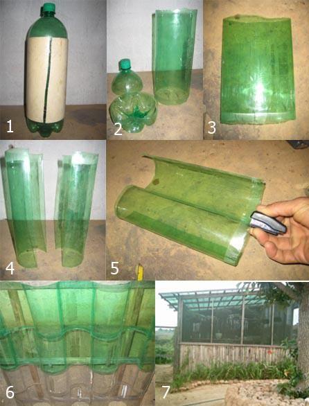 Принцип создания теплицы из пластиковых бутылок