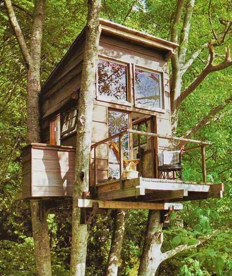 Дом на дереве - идея конструкции