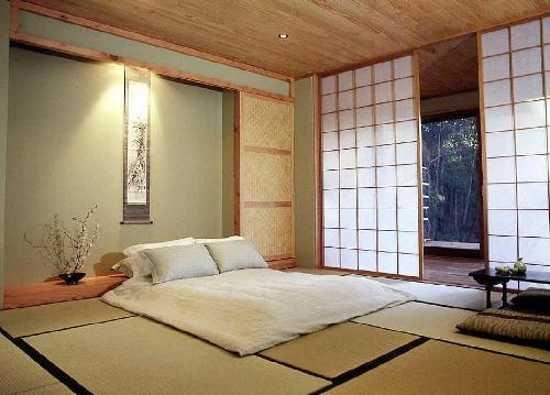 Традиционный дизайн спальни в японском стиле