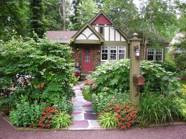 Дизайн входа во двор частного дома