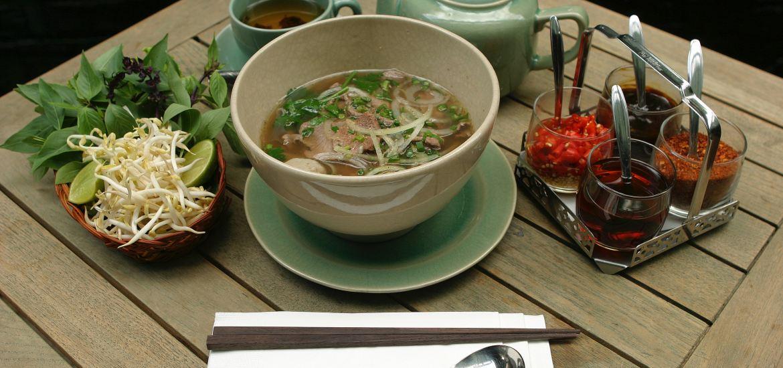 Hot Vietnamese Pho Bo Soup