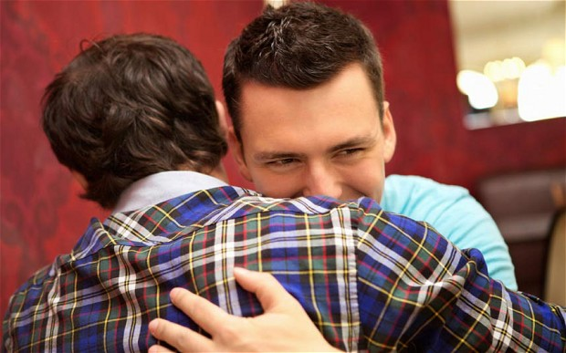 Image result for two guy friends hugging