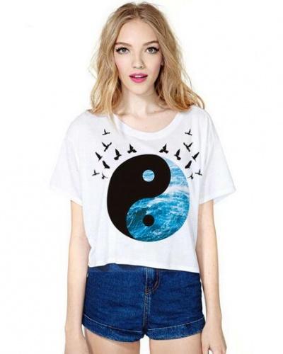 tai-chi-short-t-shirt-for-girls-bird-white-tshirt-casual-style-75228