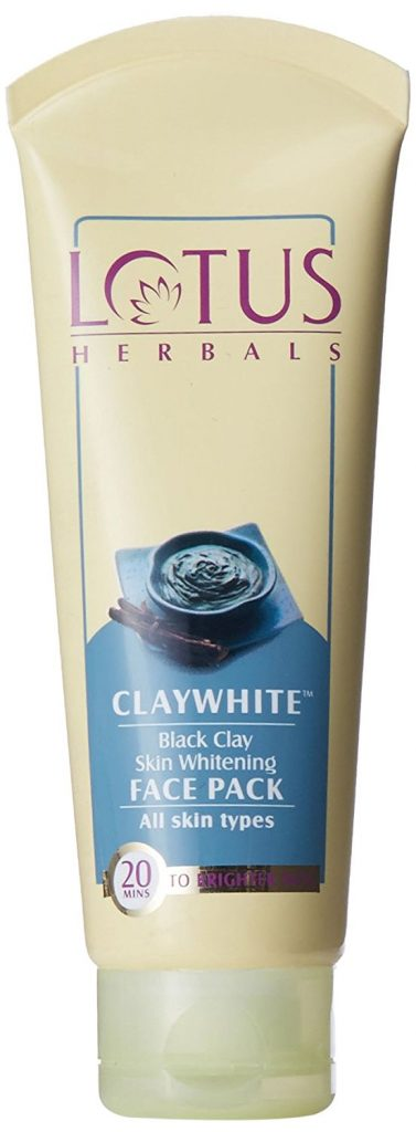Lotus Herbals Clay White Black Clay Skin Whitening Face Pack