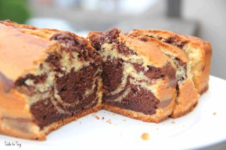 There you have it! Guilt-free chocolate marble cake!