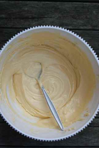 Add one teaspoon of vanilla essence into one of the batter and mix it well.