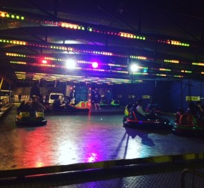 Bumper cars at the welcome prom