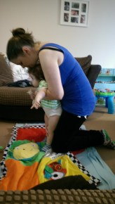 Practising standing at home